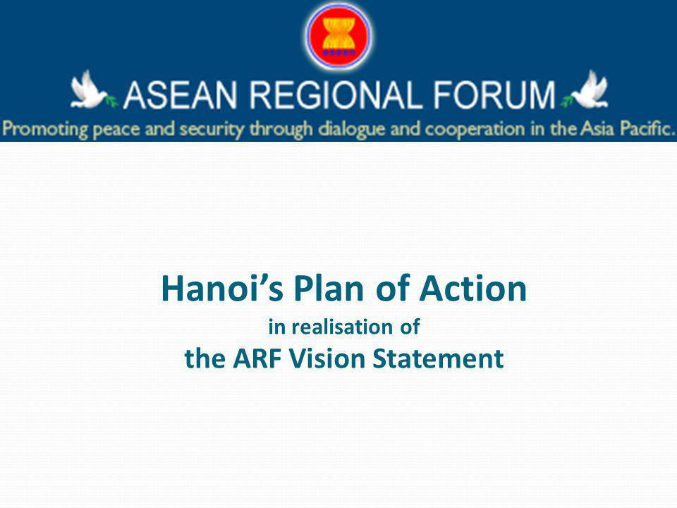 Hanois Plan of Action in realisation of the ARF Vision Statement