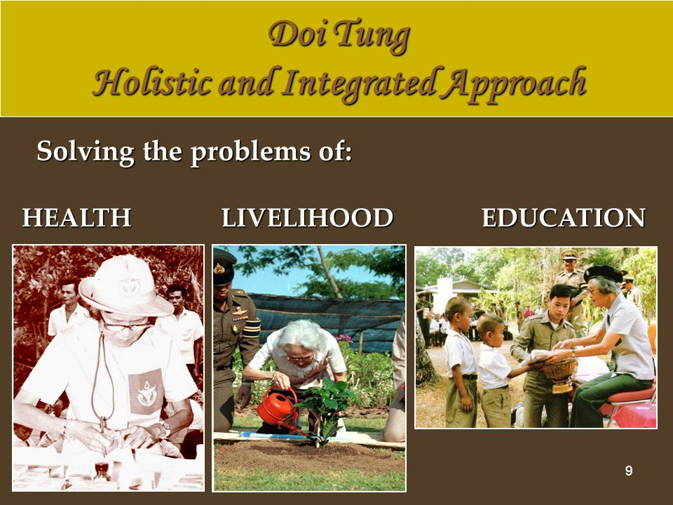 20 AD Learning Centres The Royal Project Foundation The Royal Project Foundation The Doi Tung Development Project, Mae Fah Luang Foundation The Doi Tung Development Project, Mae Fah Luang Foundation Thailands International Cooperation on AD