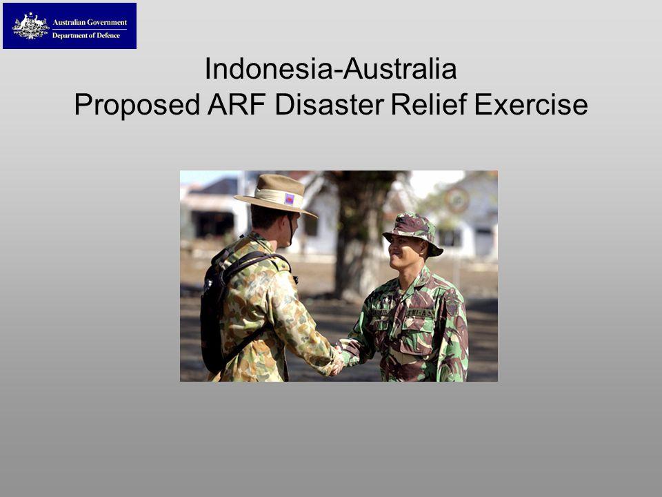Indonesia-Australia Proposed ARF Disaster Relief Exercise
