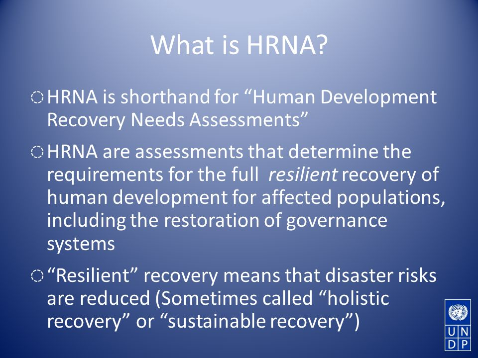What is HRNA.