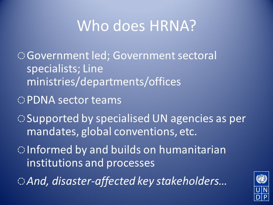 Who does HRNA.