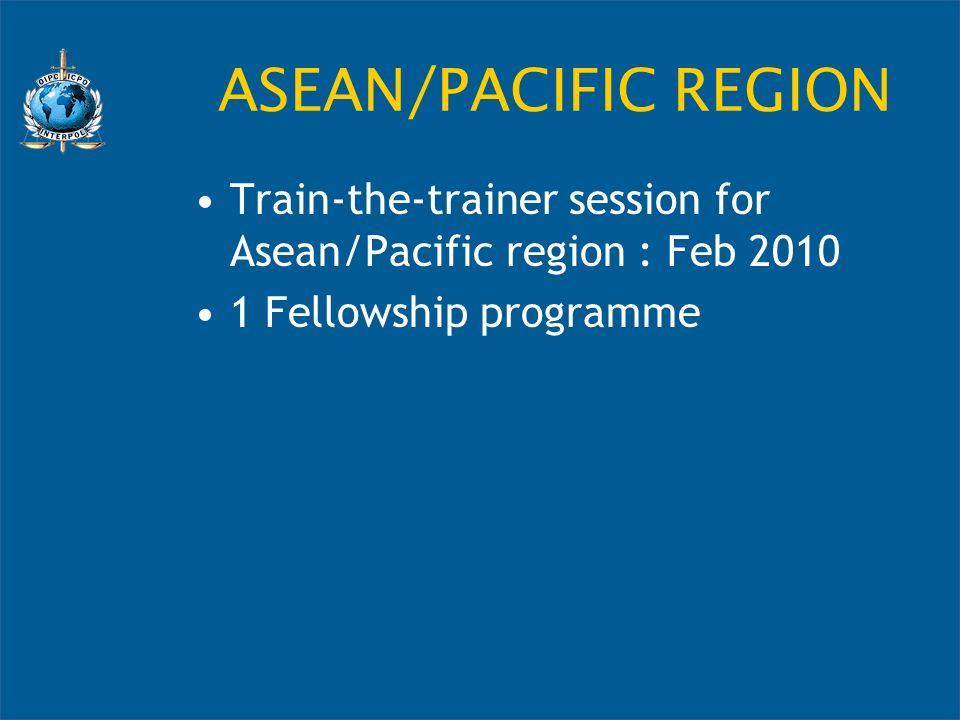ASEAN/PACIFIC REGION Train-the-trainer session for Asean/Pacific region : Feb 2010 1 Fellowship programme