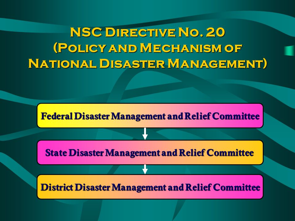 DISASTER MECHANISM IN MALAYSIA NATIONAL SECURITY DIRECTIVE NO.