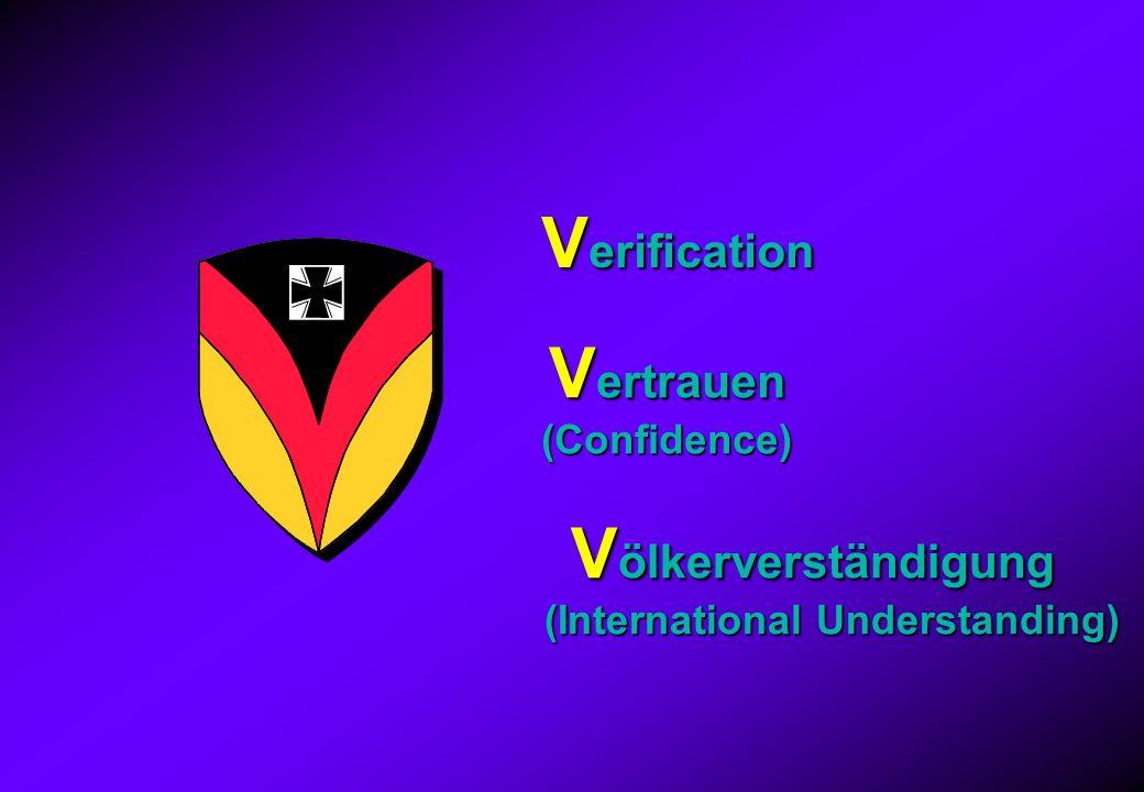 V erification V ertrauen (Confidence) V ölkerverständigung V ölkerverständigung (International Understanding)