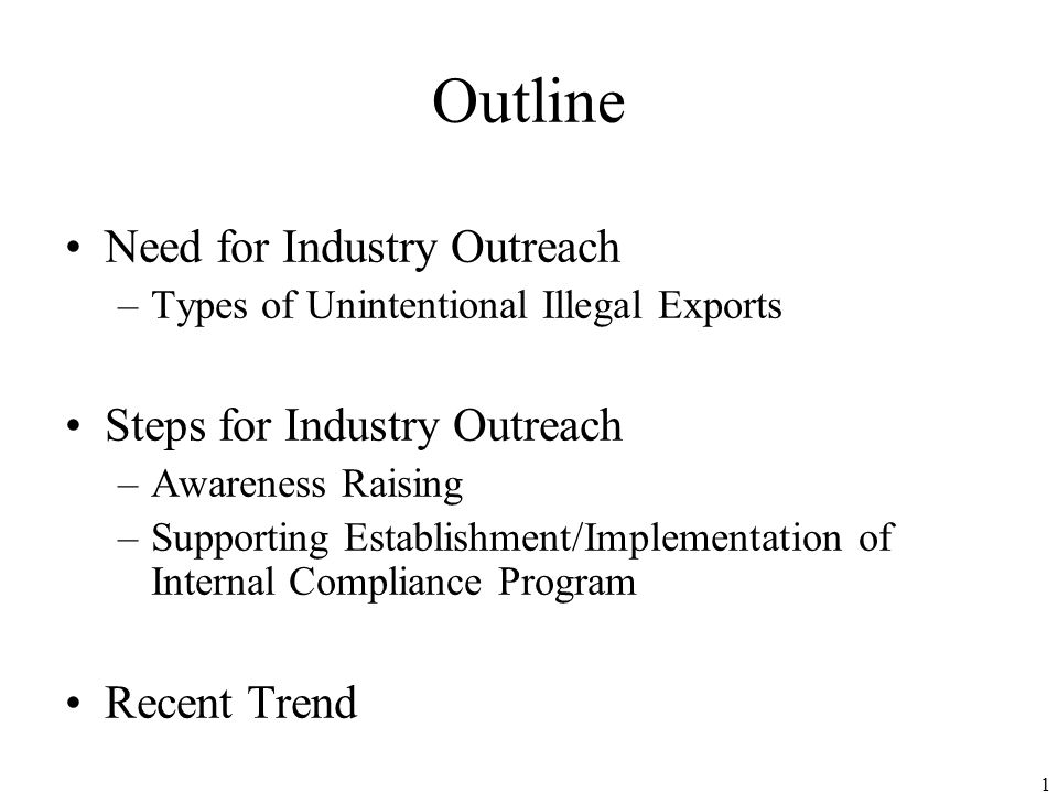 Industry Outreach November 18th, 2005 Ministry of Economy, Trade and Industry (METI) Japan