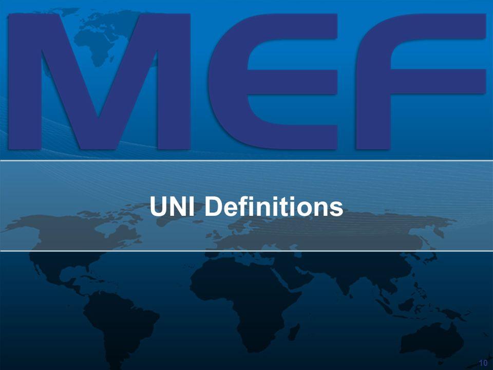 10 UNI Definitions