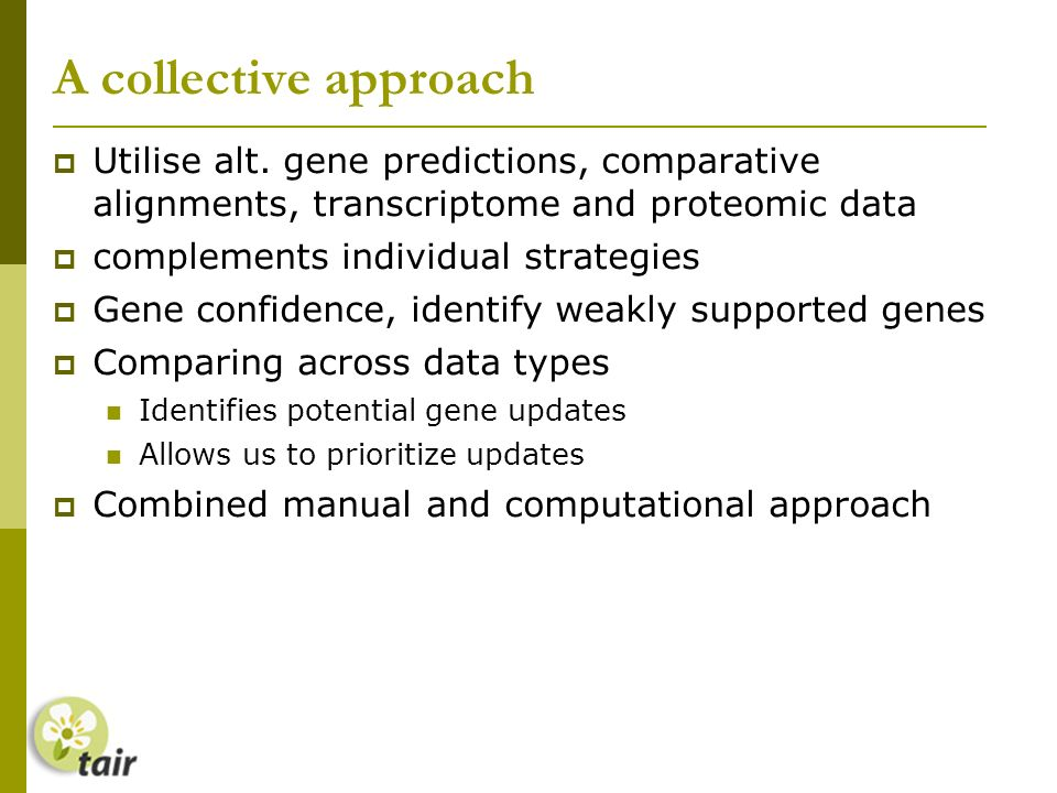 A collective approach Utilise alt.