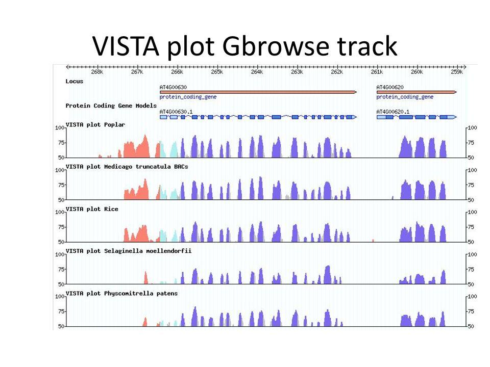 VISTA plot Gbrowse track