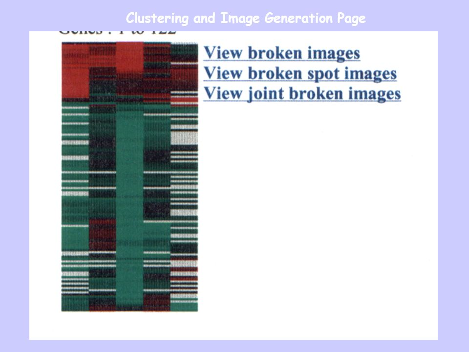 Clustering and Image Generation Page