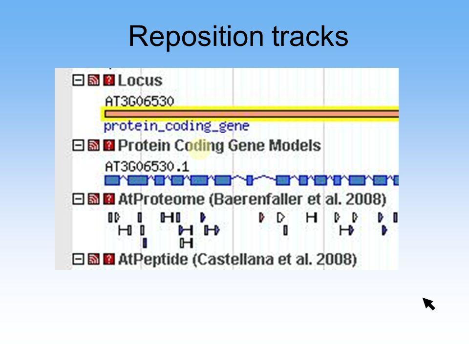 Reposition tracks