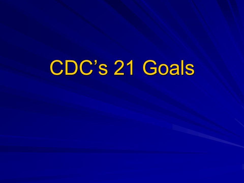 CDCs 21 Goals