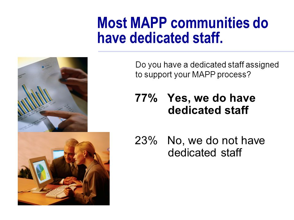 Most MAPP communities do have dedicated staff.