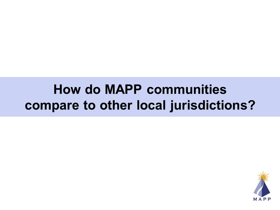 How do MAPP communities compare to other local jurisdictions