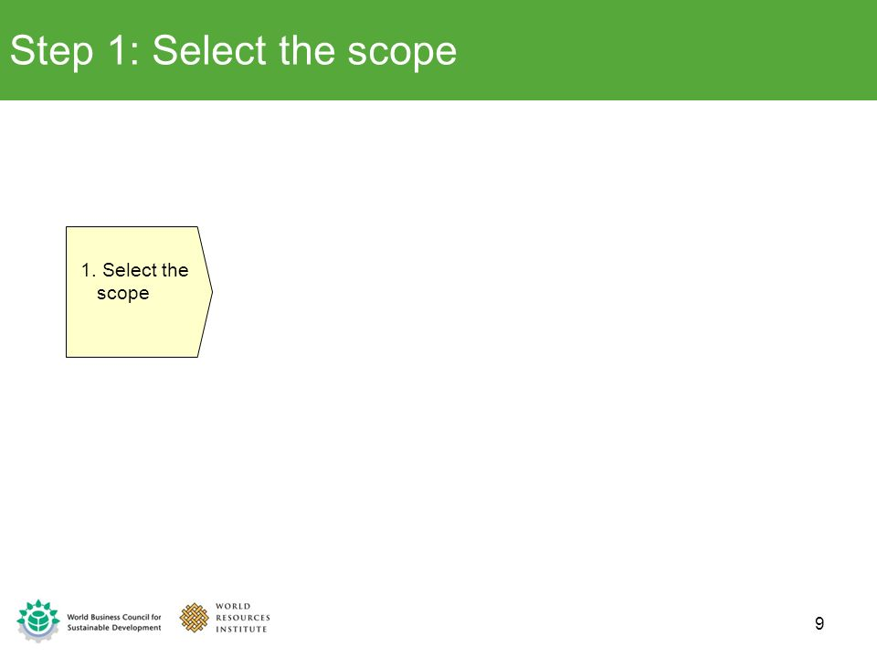 Step 1: Select the scope 1. Select the scope 9