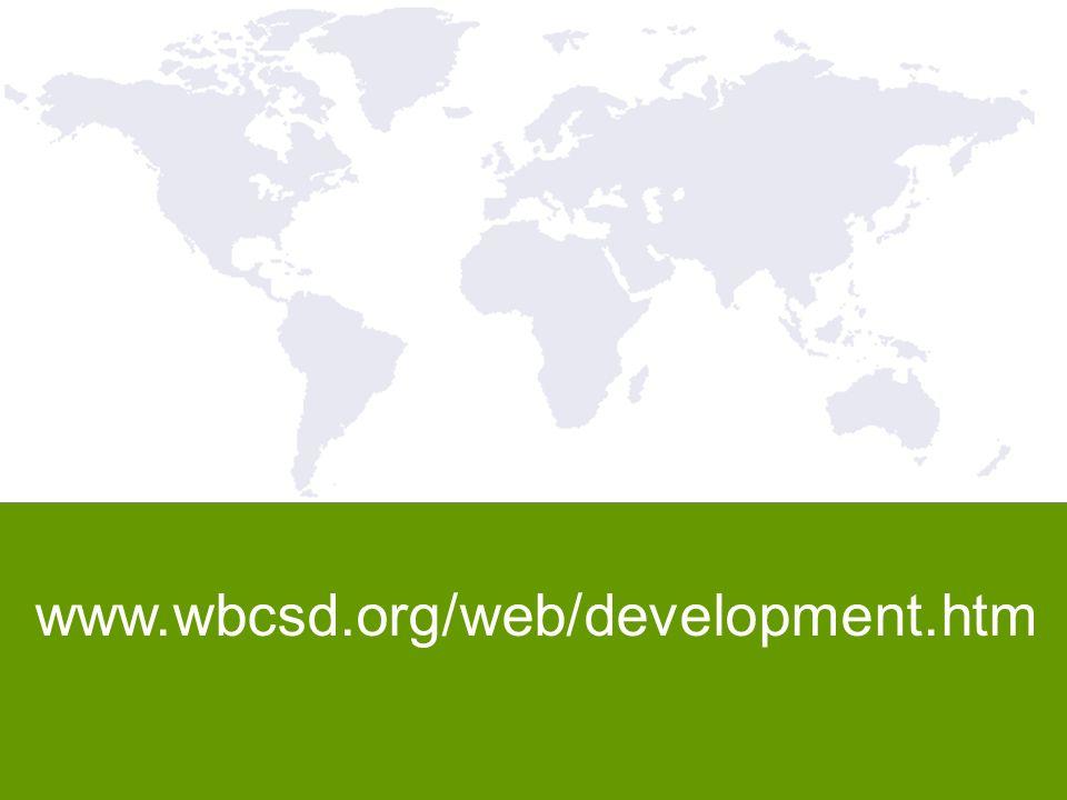 12 www.wbcsd.org/web/development.htm