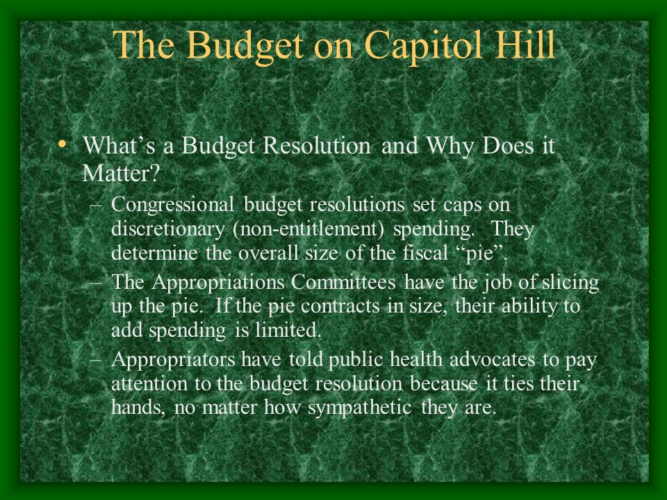 The Budget on Capitol Hill Whats a Budget Resolution and Why Does it Matter.