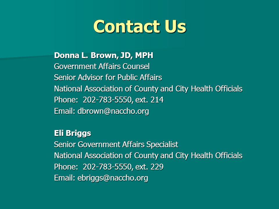 Contact Us Donna L.