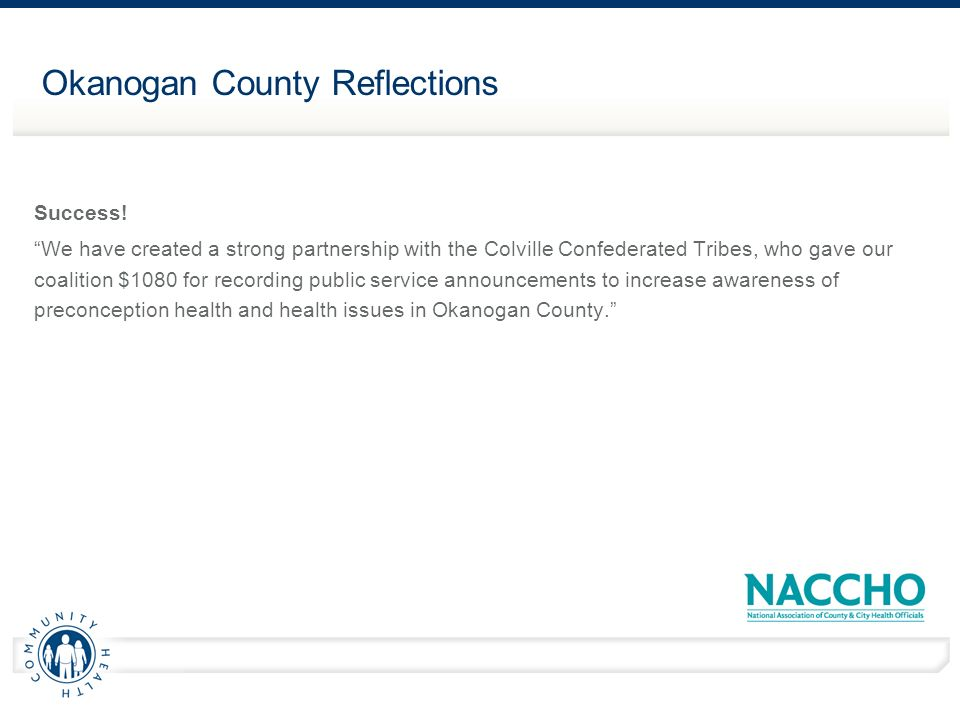 Okanogan County Reflections Success.