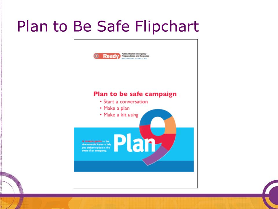 Plan to Be Safe Flipchart