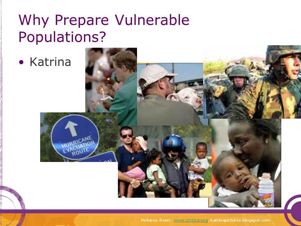 Why Prepare Vulnerable Populations.