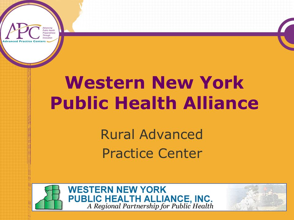 Western New York Public Health Alliance Rural Advanced Practice Center