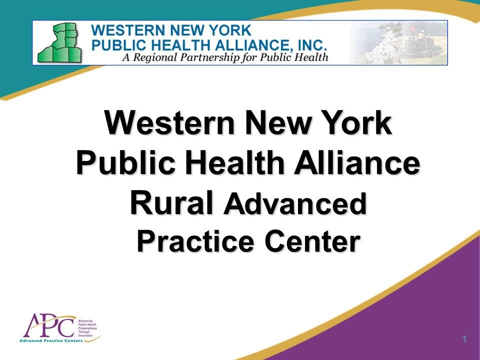 1 Western New York Public Health Alliance Rural Advanced Practice Center