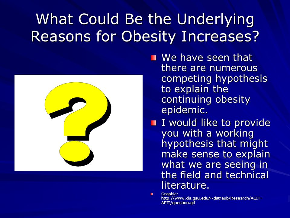 What Could Be the Underlying Reasons for Obesity Increases.