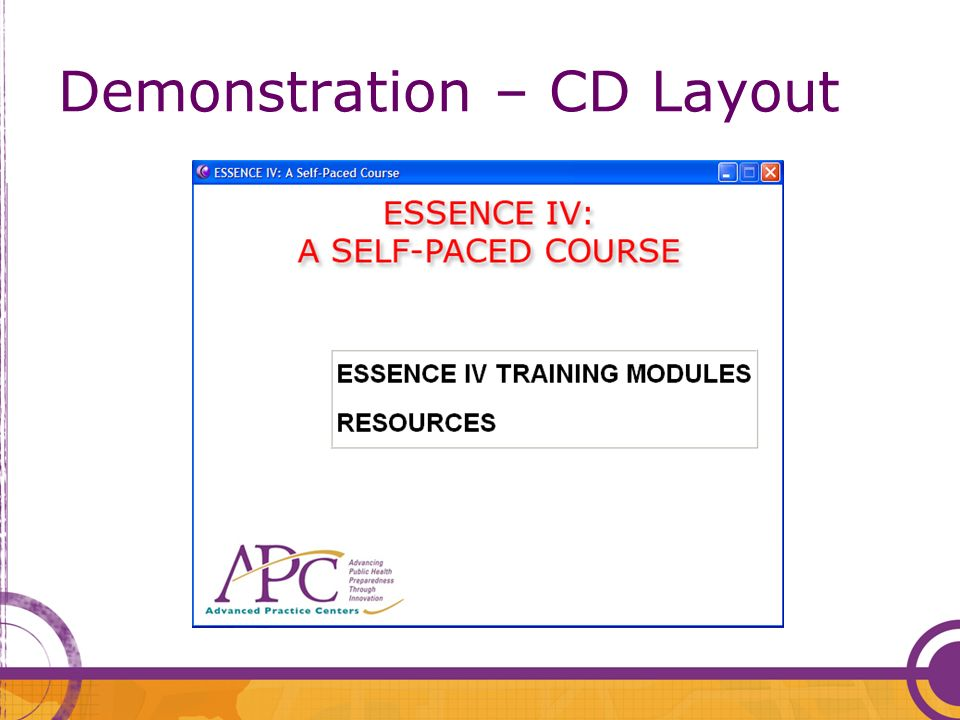 Demonstration – CD Layout