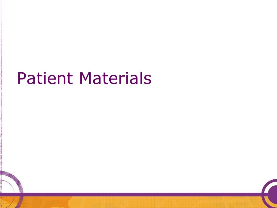Patient Materials