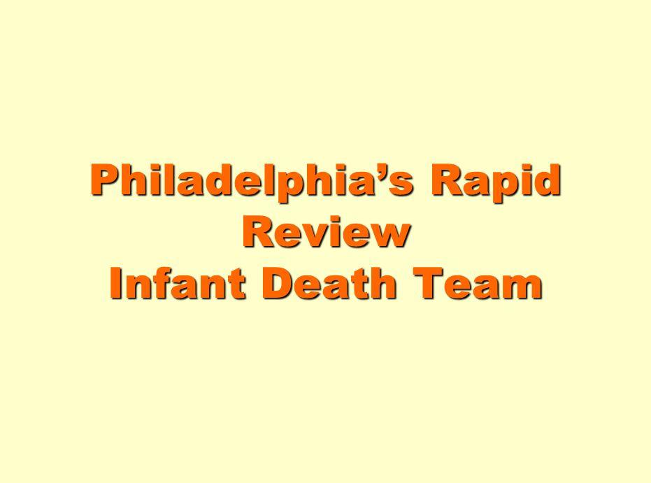Philadelphias Rapid Review Infant Death Team