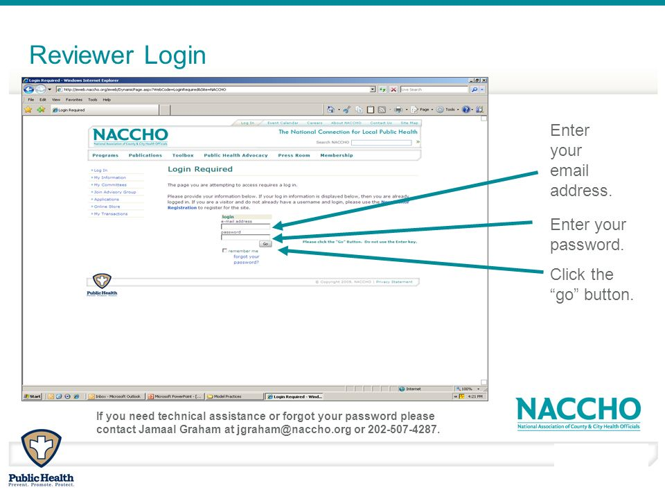 March - April 2010 Reviewer Login Enter your email address.