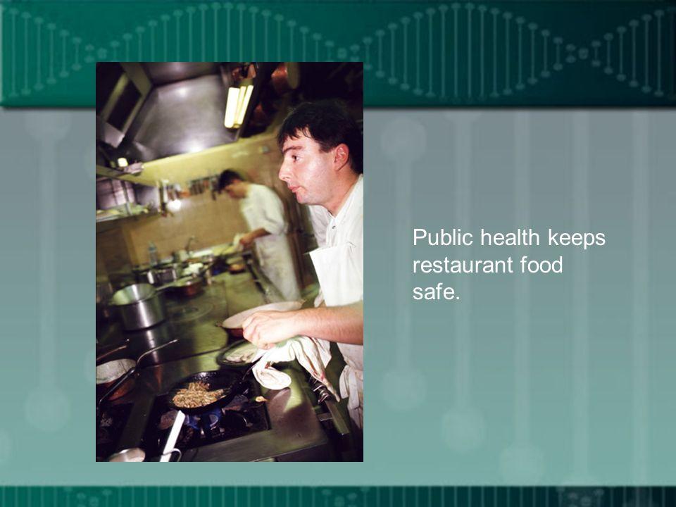 Public health keeps restaurant food safe.