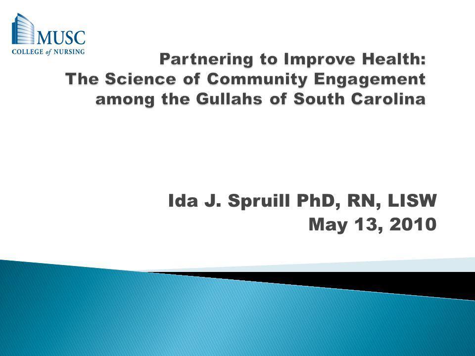 Ida J. Spruill PhD, RN, LISW May 13, 2010