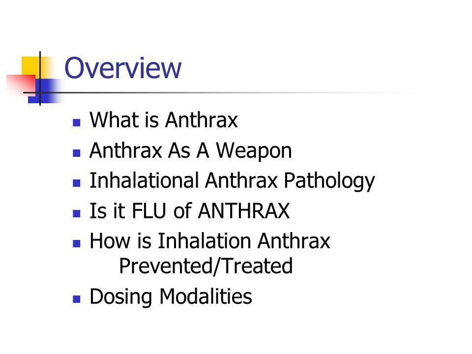 What Are The Symptoms Inhalation Anthrax, a bacteria, and Influenza (flu), a virus, can have similar symptoms.