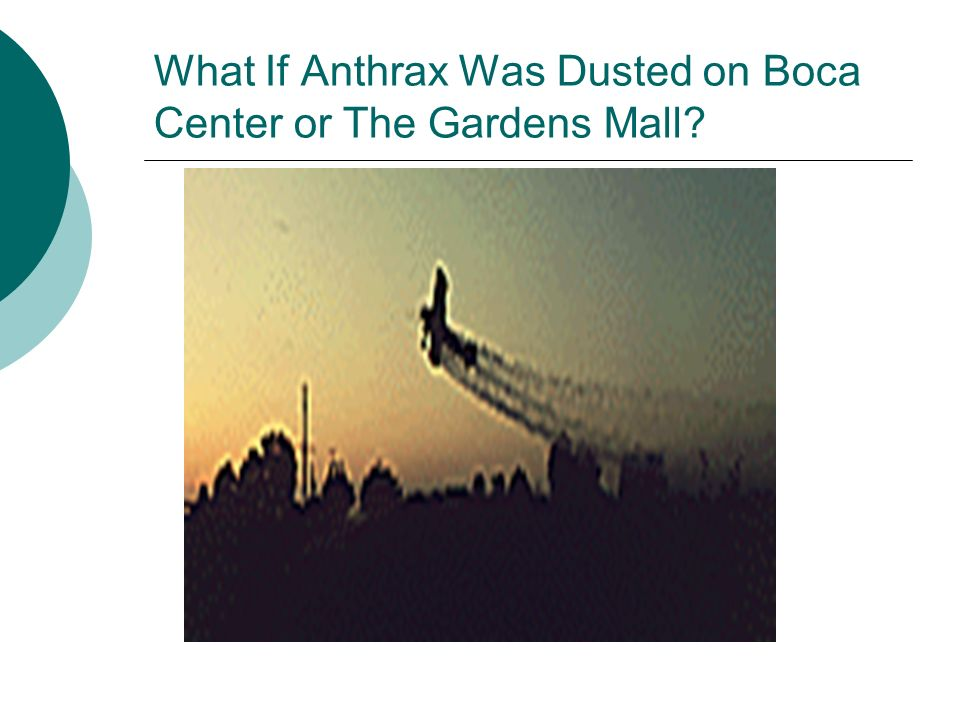 What If Anthrax Was Dusted on Boca Center or The Gardens Mall