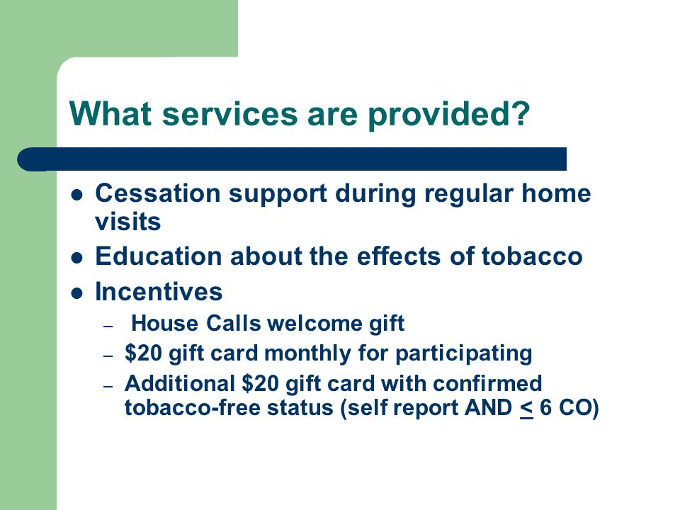 What services are provided.