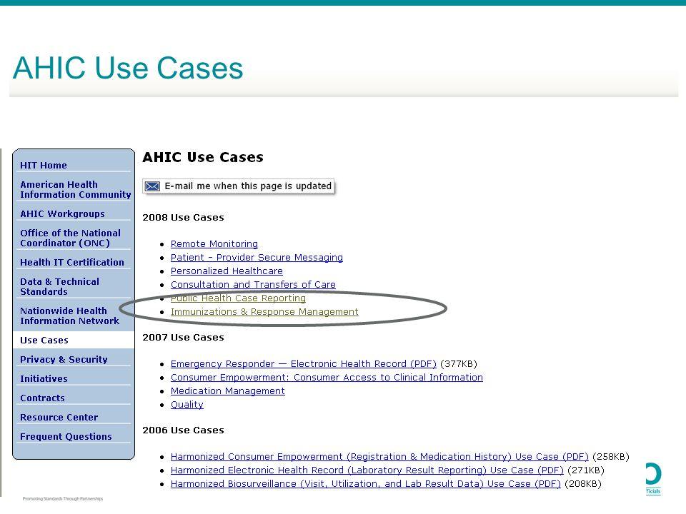 AHIC Use Cases