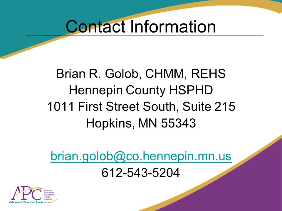 Contact Information Brian R.