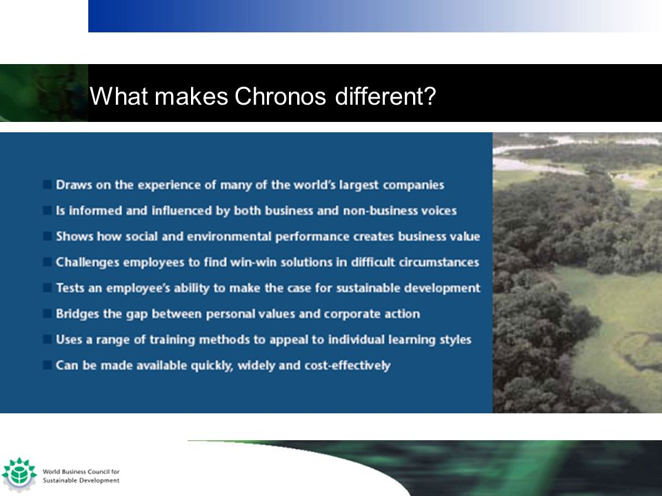 What makes Chronos different