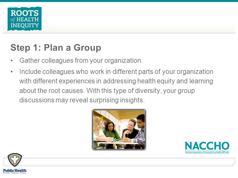 Step 1: Plan a Group Gather colleagues from your organization.