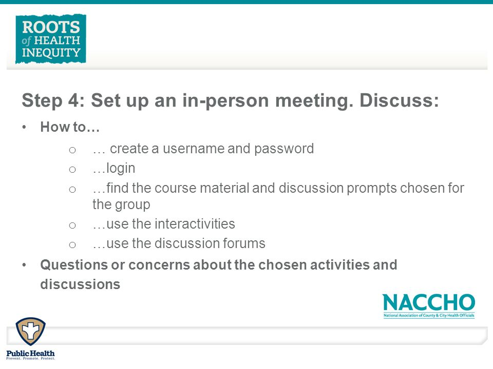 Step 4: Set up an in-person meeting.