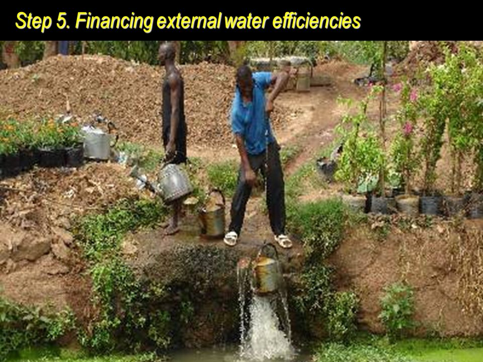 World Resources Institute Step 5. Financing external water efficiencies