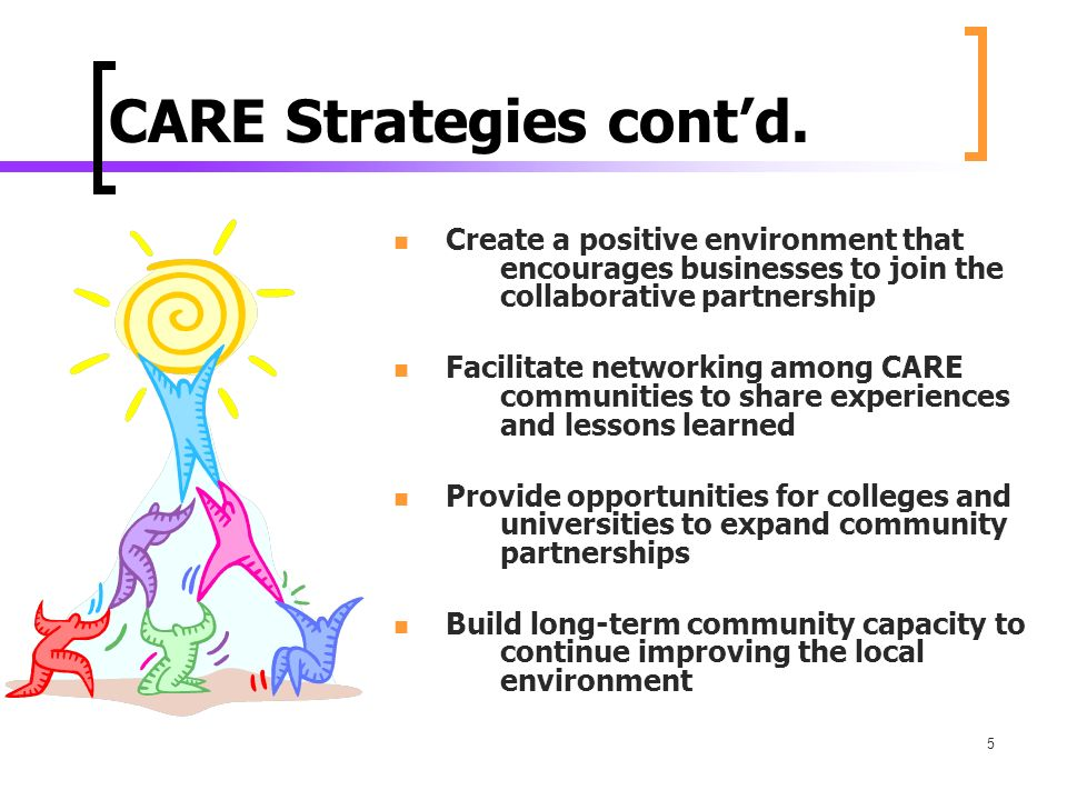 5 CARE Strategies contd.