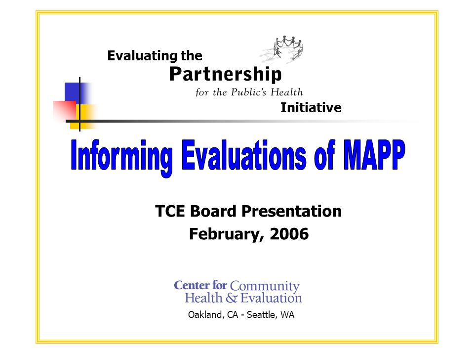 2 Presentation Overview About PPH Intersection of PPH and MAPP Developing and using intermediate indicators
