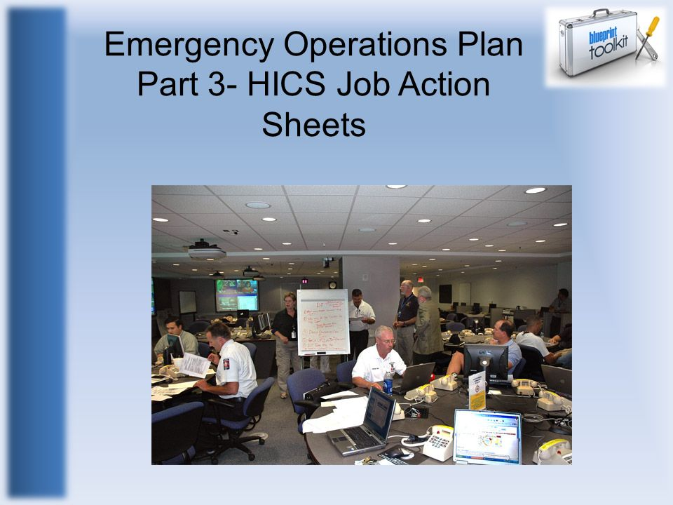 Emergency Operations Plan Part 3- HICS Job Action Sheets
