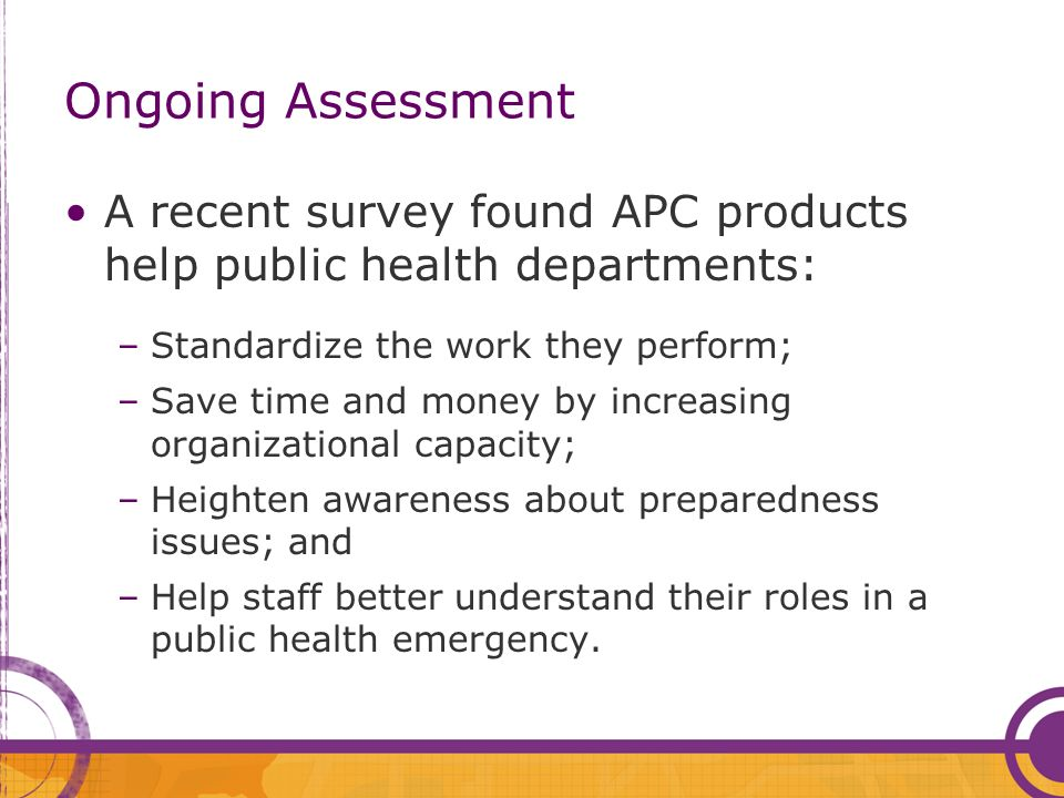 What Others Are Saying… This is a a fantastic resource for local public health agencies so that we arent each re- inventing the wheel.
