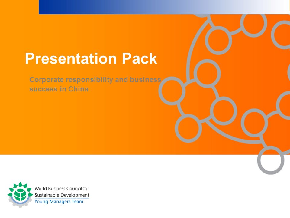 Corporate responsibility and business success in China Presentation Pack