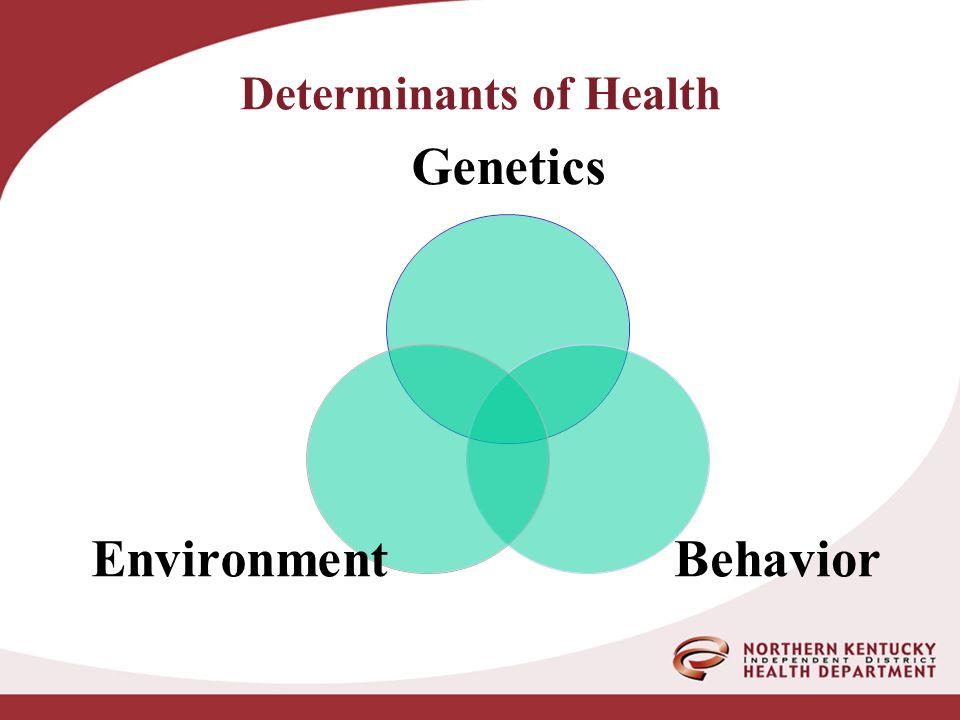 Genetics BehaviorEnvironment Determinants of Health