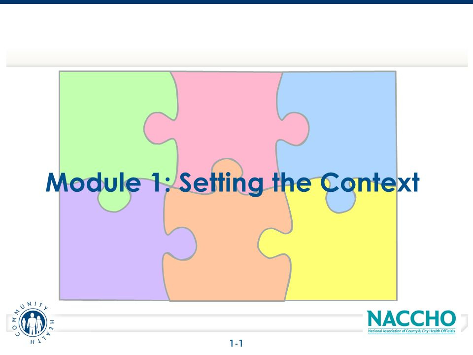 Module 1: Setting the Context 1-1