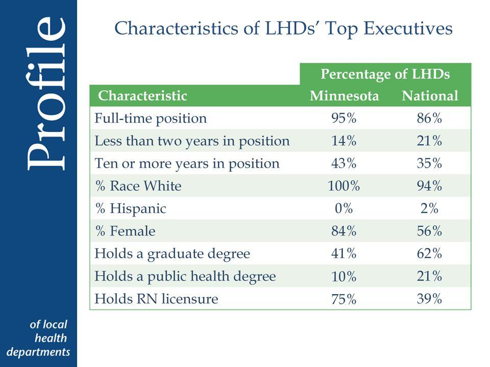 Characteristics of LHDs Top Executives